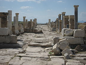 Colonnaded street in Laodicea