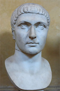 Colossal marble head of Emperor Constantine the Great