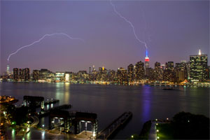 Lightning strikes two buildings in NYC