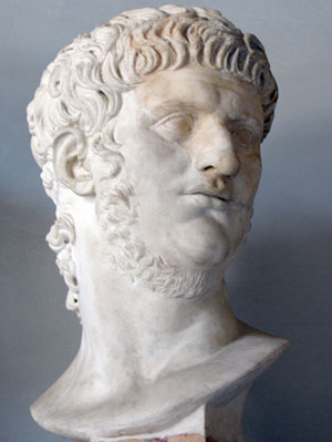 Bust of Nero at Mussei Capitolini, Rome.