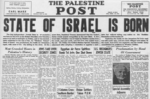 May 14, 1948 Palestine Post Newspaper.