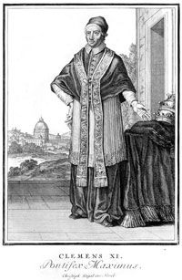 Pope Clement XI Engraving