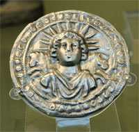 Silver disc of Sol Invictus