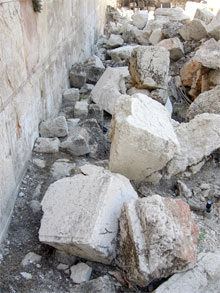 Stones from the Western Wall of the Temple Mount